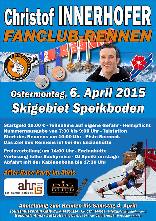Christof-Innerhofer-Fanclub-Rennen am 6. April 2015