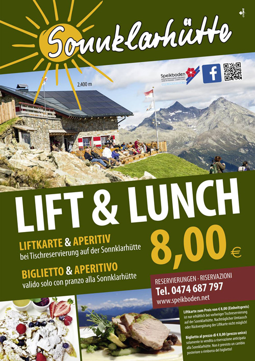 Sonnklarhütte - Lift & Lunch